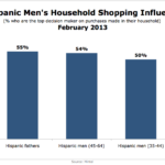Household Shopping Decision Influence Of Hispanic Men, February 2013 [CHART]