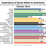 Importance Of Social Media To Americans By Select Demographics, October 2013 [CHART]