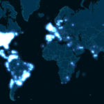 Ellen DeGeneres Oscars Selfie Tweet Reach [ANIMATED HEATMAP]