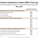 Customer Experience Leaders vs Laggards, May 2014 [TABLE]
