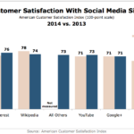 Customer Satisfaction With Social Networking Sites, 2013 vs 2014 [CHART]