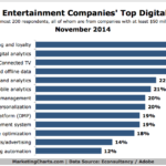 Media & Entertainment Companies' Top Online Priorities, November 2014 [CHART]