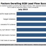 B2B Lead Flow Obstacles, July 2015 [CHART]