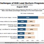 Top Challenges For B2B Lead Nurturing, August 2015 [CHART]