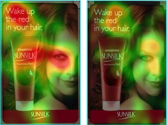 Heatmap: Sunsilk Magazine Ad