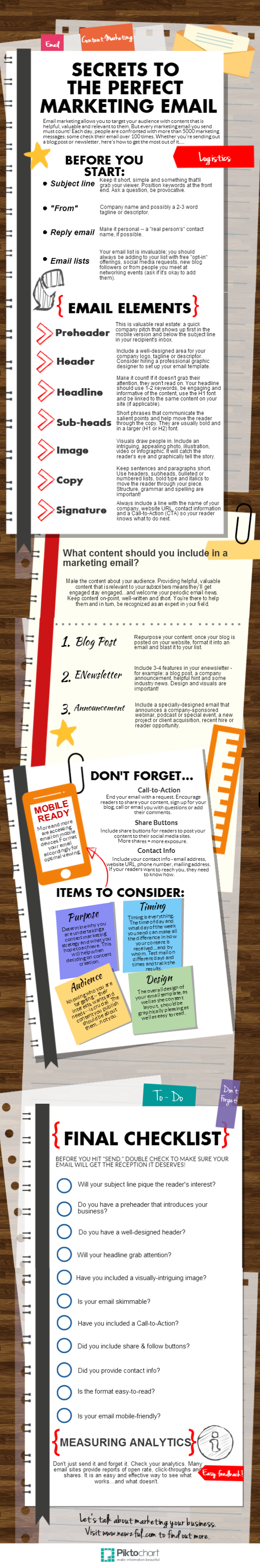 Critical Elements Of A Perfect Marketing Email infographic