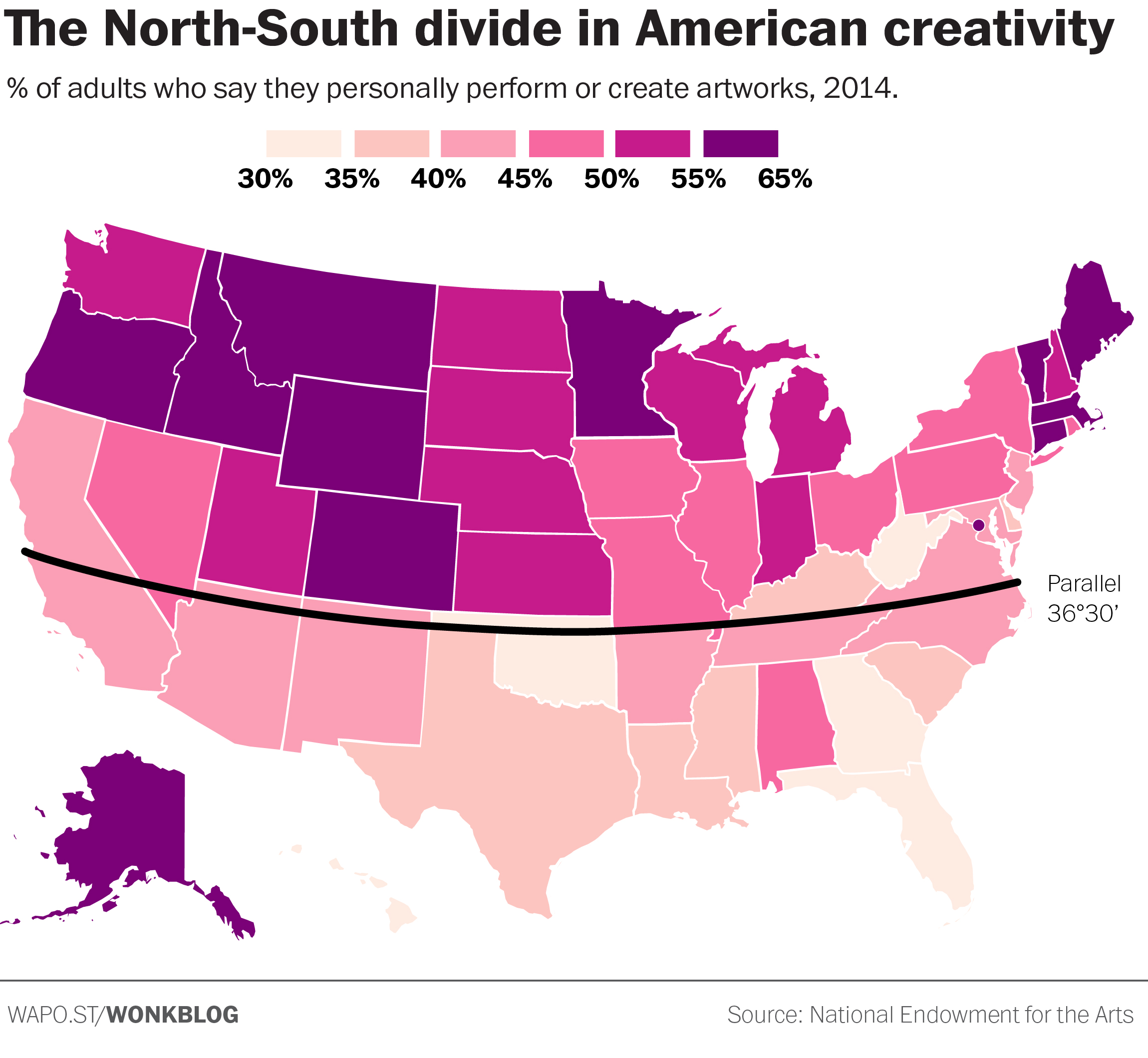 Creativity By State [MAP]