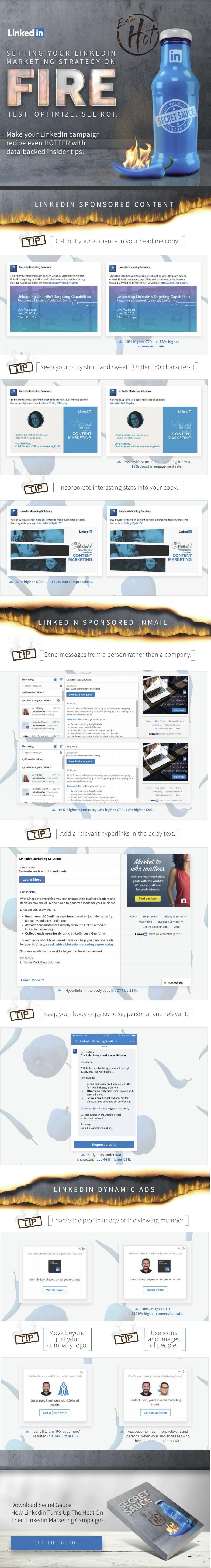 Infographic: Linkedin Advertising Tips