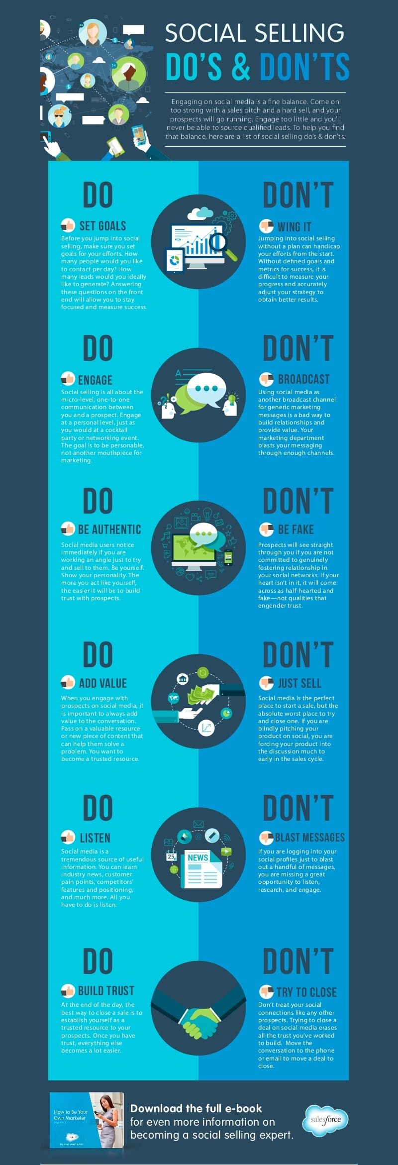 Infographic: Social Selling Dos & Don'ts