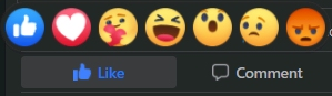 Screenshot: Facebook Reactions